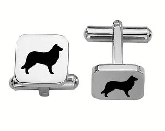 Border Collie Cufflinks | Dog Cufflinks | Custom Cufflinks | Stainless Steel
