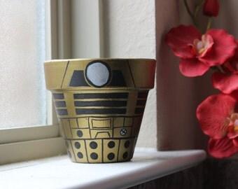 Dalek Themed Flower Pot