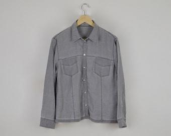 Vintage Grey Shirt      Vintage Grey Blouse