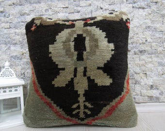 handmade carpet pillow 16x16 tribal pillow bohemian pillow floor cushion decorative pillow sofa pillow aztec pillow morocco pillow