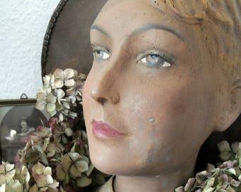 Antique mannequin head mannequin
