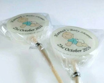 Baby Shower Favours, Gift, baby boy, Lollipops, Christening Favours, Image Lollies, Personalised,blue  bump, pregnancy gift, mother to be