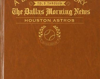 Dallas Morning News Houston Astros Baseball Book - Leatherette - Without  embossing on front cover