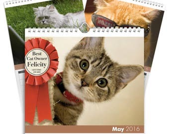 Personalised Cats Calendar - Desktop Calendar