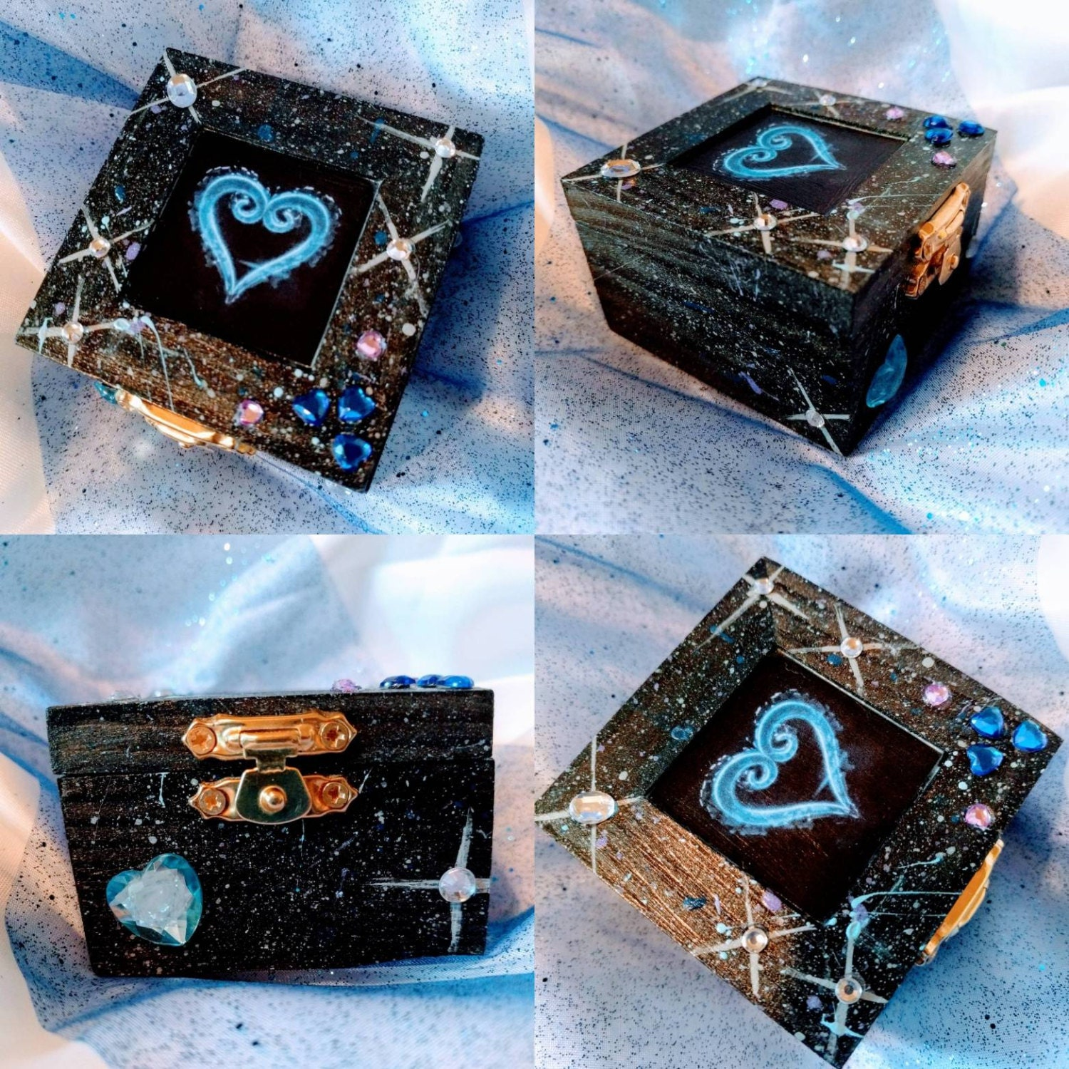 Engagement Ring Box Sale: Kingdom Hearts Inspired Engagement Ring Box W/ Quote Inside: