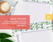 Mood tracker printable - a4 planner inserts - self care planner - me time v6