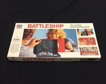 Battleship Milton Bradley Vintage 1975 Strategy Board Game - Complete