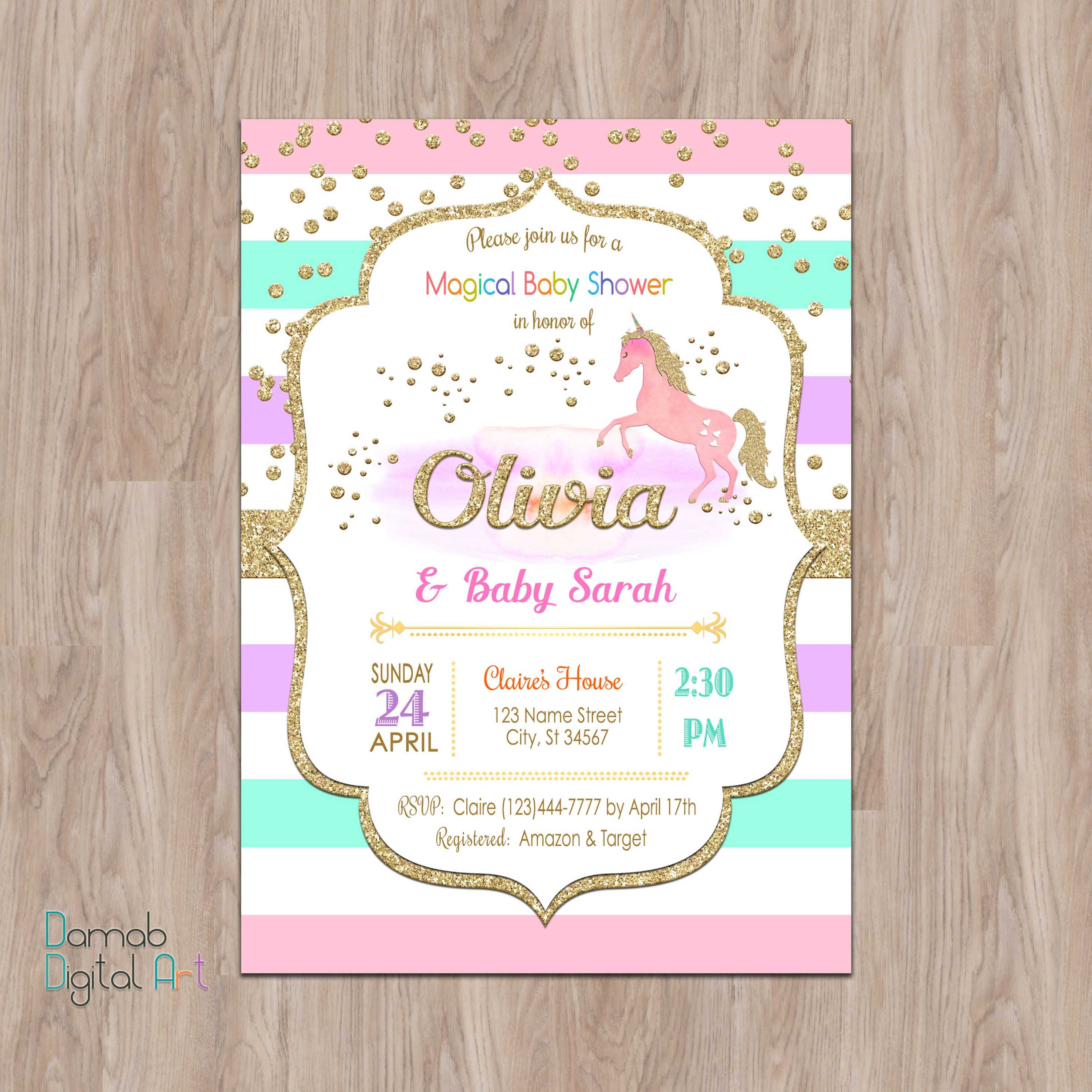 Gold And Pink Baby Shower Invitations was perfect invitation sample