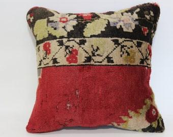 Organic Turkish Rug Pillow 20x20 Naturel Carpet Pillow Ethnic Pillow Large Pillow Bohemian Rug Pillow Cushion Cover  SP5050-1335