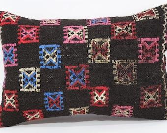 Embroidered Kilim Pillow Throw Pillow Sofa Pillow 16x24 Bohemian Kilim Pillow Naturel Kilim Pillow Ethnic Pillow Cushion Cover SP4060-292