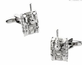 Army Tank Cufflinks -B85 Free Gift Box!