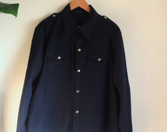 Vintage work wear jacket - Navy/ Fireman