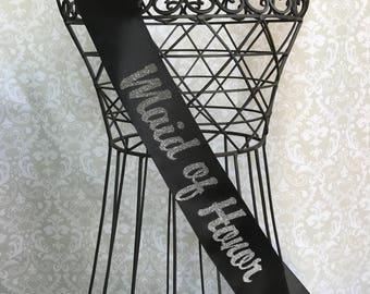 Maid of Honor Bachelorette Party / Bridal Shower Sash