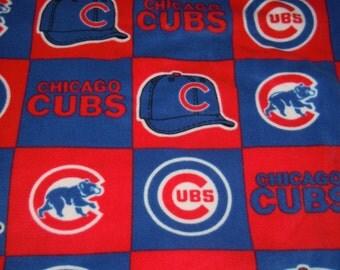 Cubs Blanket - Chicago Cubs Blanket - Fleece Blanket - No Sew - Hand Tied - Fleece Tie Blanket