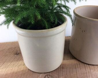Earthenware Crock//One Gallon//Salt Glazed