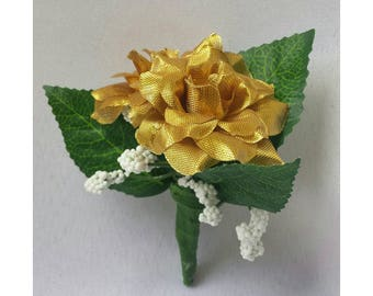Gold Corsage Gold Boutonnieres Gold Wedding Boutonnieres Gold Groomsmen Boutonnieres Gold Wedding Corsages Gold Men Boutonnieres Gold Rose