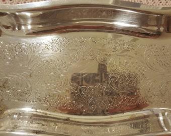 Sheridan silver-plated tray