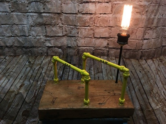 Harland and Wolff inspired salvaged table lamp