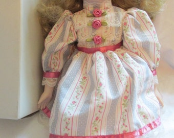 Schmid Porcelain Musical Doll plays Oh What a Beautiful Morning Mint in the box