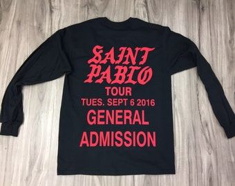 Kanye Weat SAINT PABLO Tour / The Life Of Pablo,pablo shirt (Red-Print)