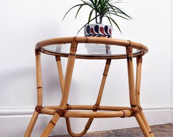 SOLD!!! Vintage/Retro Oriental Bentwood tripod Bamboo Coffee Table Was 65 Now 45