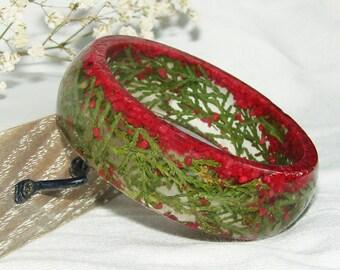 Real Flower Resin Bracelet, Real Flower Bangle, Resin Flower Bracelet,  Flower Bracelet, Resin Jewelry, Gift for Her, Real Plant Bracelet