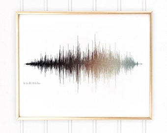 Custom Sound Wave Art, Valentines Day Gift, Gift for Wife, Waveform Art, Boyfriend Gift, Voice Wave Art, Framed Print Wall Art