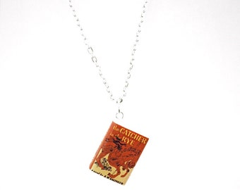 Catcher in The Rye Book Charm Necklace