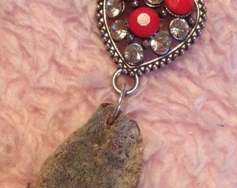 Mummified rabbit heart love heart necklace jewellery valentines day gift taxidermy oddity curio gothic romantic