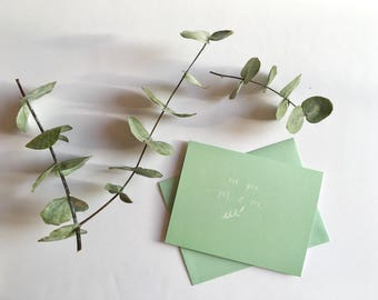 For you mom// mint greeting card