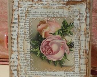 Vintage Flower Butterfly & Birds Junk Journal, Junque Journal, Smash book, Handmade Diary, Handmade Notebook, Altered Book, OOK Diary