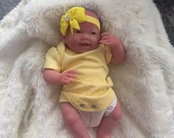 "Gorgeous Reborn Baby Girl""Sunshine""smiley face,lightly reborned,so cute, Bargain Price!!!!"