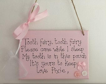 Tooth Fairy collection plaque personalised