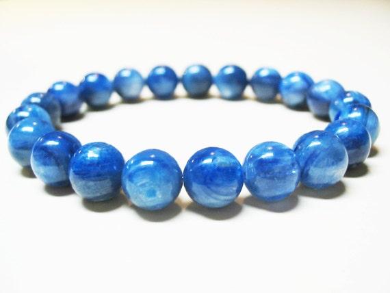 Genuine Kyanite Bracelet Blue Kyanite Bracelet Throat Chakra