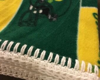 University of Oregon Fleece Baby Blanket, Oregon Ducks Soft Baby Blanket, U of O Baby Blanket, Ducks Fleece Baby Blanket