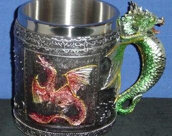 Royal Dragon Polyresin and Metal Mug - NEW