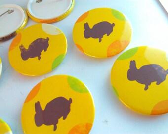 Handmade badge, Easter Bunny, Easter Bunny badge, bunny badge, rabbit badge, Easter Bunny pin badge, bunny rabbit, bunny rabbit badge, pins