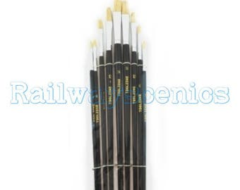Toolzone 9pc Round artists paint brushes