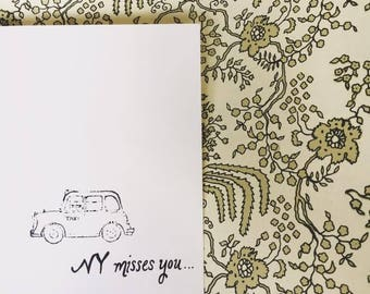 "Positive Paper Co ""New York misses you"" card"