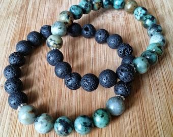 Aromatherapy Gemstone Bracelet Set - African Turquoise