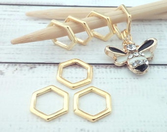 honeycomb bee stitch markers - bee place holder notions - knitting accessories