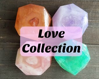 Crystal Reiki Soap | Love Collection | Crystal Soap | Reiki Crystal | Soap with Crystal | Amethyst Soap | Reiki Infused | Healing Crystal
