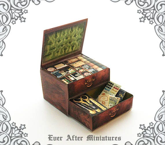 Dollhouse Miniature SEWING KIT 1:12 Antique Miniature