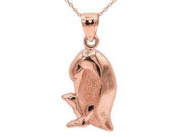 10k Rose Gold Penguin Necklace