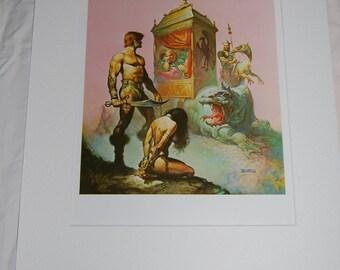 Boris Vallejo Matted Print - Tarnsman of Gor - 1967
