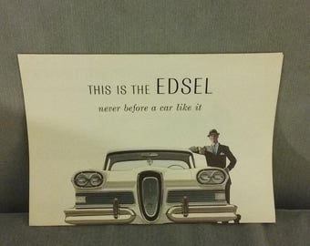 1958 Edsel 8-Page  Original Dealer Sales Brochure, Printed By FoMoCo In 1957, Mint Condition