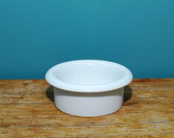 Vintage white ramekin , inspiration Porcelaine a feu, made in France , Ramequin , Porcelain Ramekin