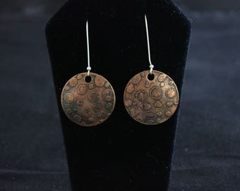 Etched copper earrings (05212017-009)