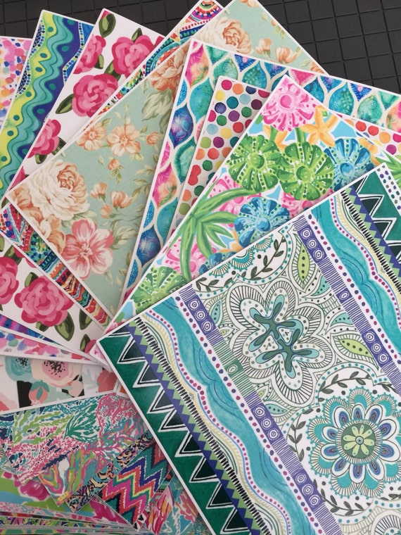 Sample Pack of Six, 6x6 Patterned Vinyl Sheets  // Lilly Pulitzer Vinyl Sheets // Lilly Pulitzer Vinyl // Lilly Vinyl