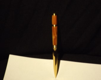 hand turned exoti wood segments tulipwood central america 10 carrot gold